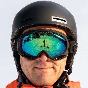Oakley A-Frame 2.0 goggles i Factory Pilot Blackout design med Prizm Jade Iridium linse