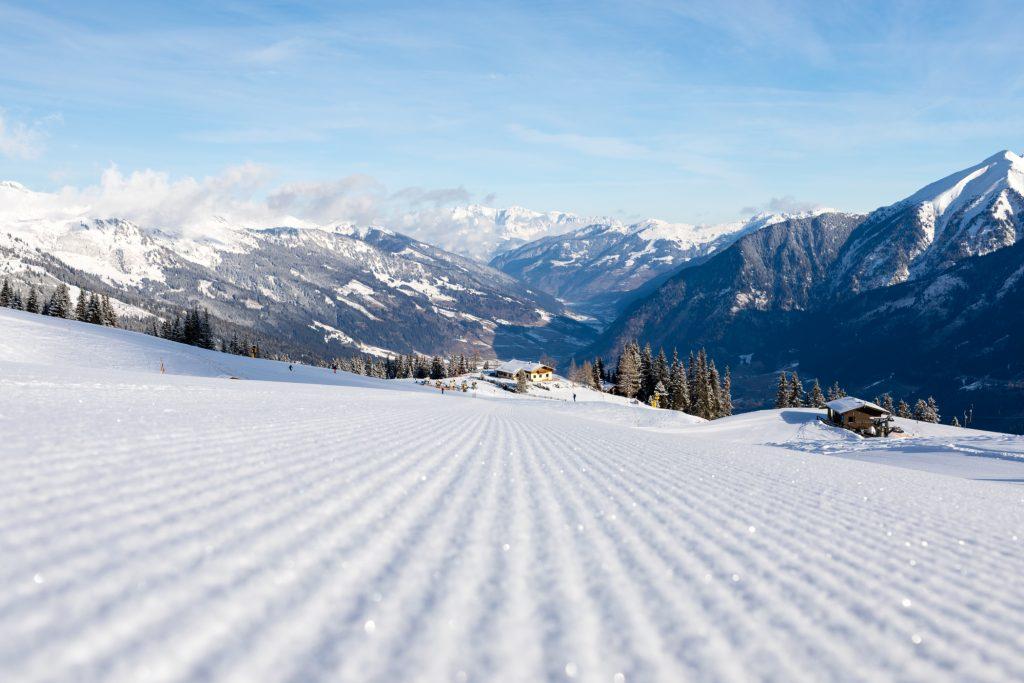 Solskin og perfekte pister i Bad Gastein // Foto: Troels Kjems