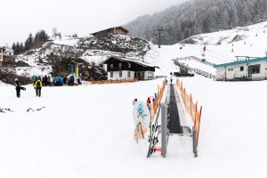 Tæppelift til de alleryngste skiløbere i Bad Gastein // Foto: Troels Kjems