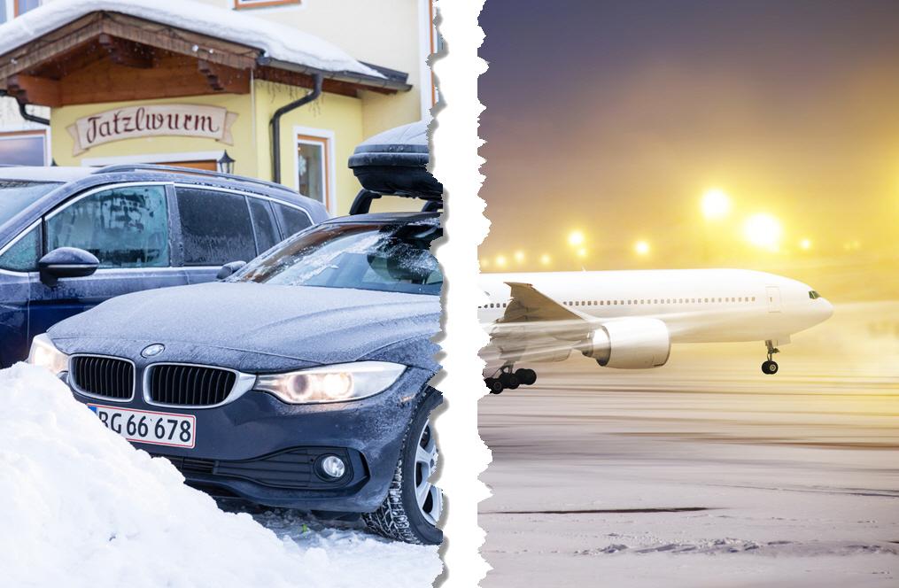 Bil eller fly billigst