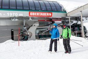 Topstationen for Grünwaldkopfbahn i Obertauern.