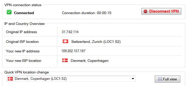 Dansk IP adresse i udlandet