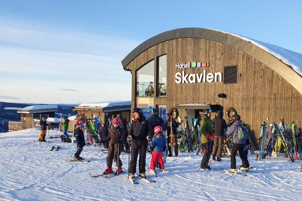Restaurant Skavlen ved gondolens topstation // Foto: Troels Kjems