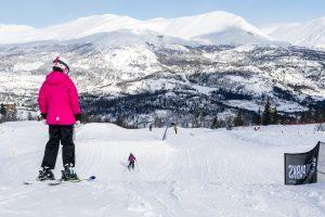 Mellemstore kickers i snowparken // Foto: Troels Kjems
