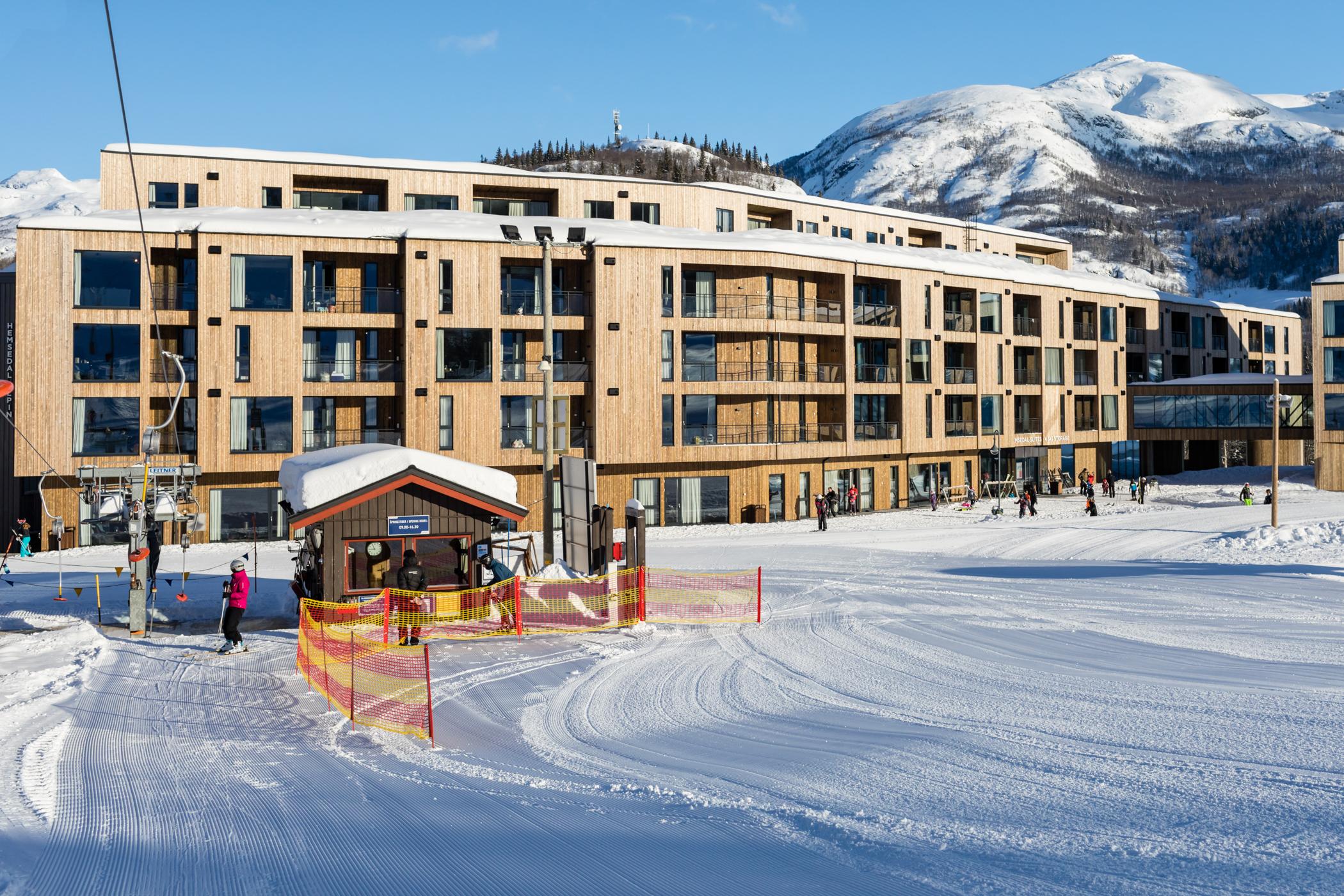 Den nye SkiStar Lodge med ski-in/ski-out // Foto: Troels Kjems