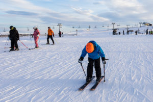 Det flade stykke øverst på Idre Fjäll er næppe populært hos snowboardere // Foto: Troels Kjems
