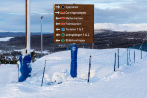 God skiltning gør det nemt at finde rundt på Idre Fjäll // Foto: Troels Kjems