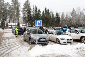 Parkeringsplads ved Isaberg