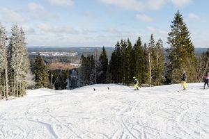 Skiløbere i Isaberg