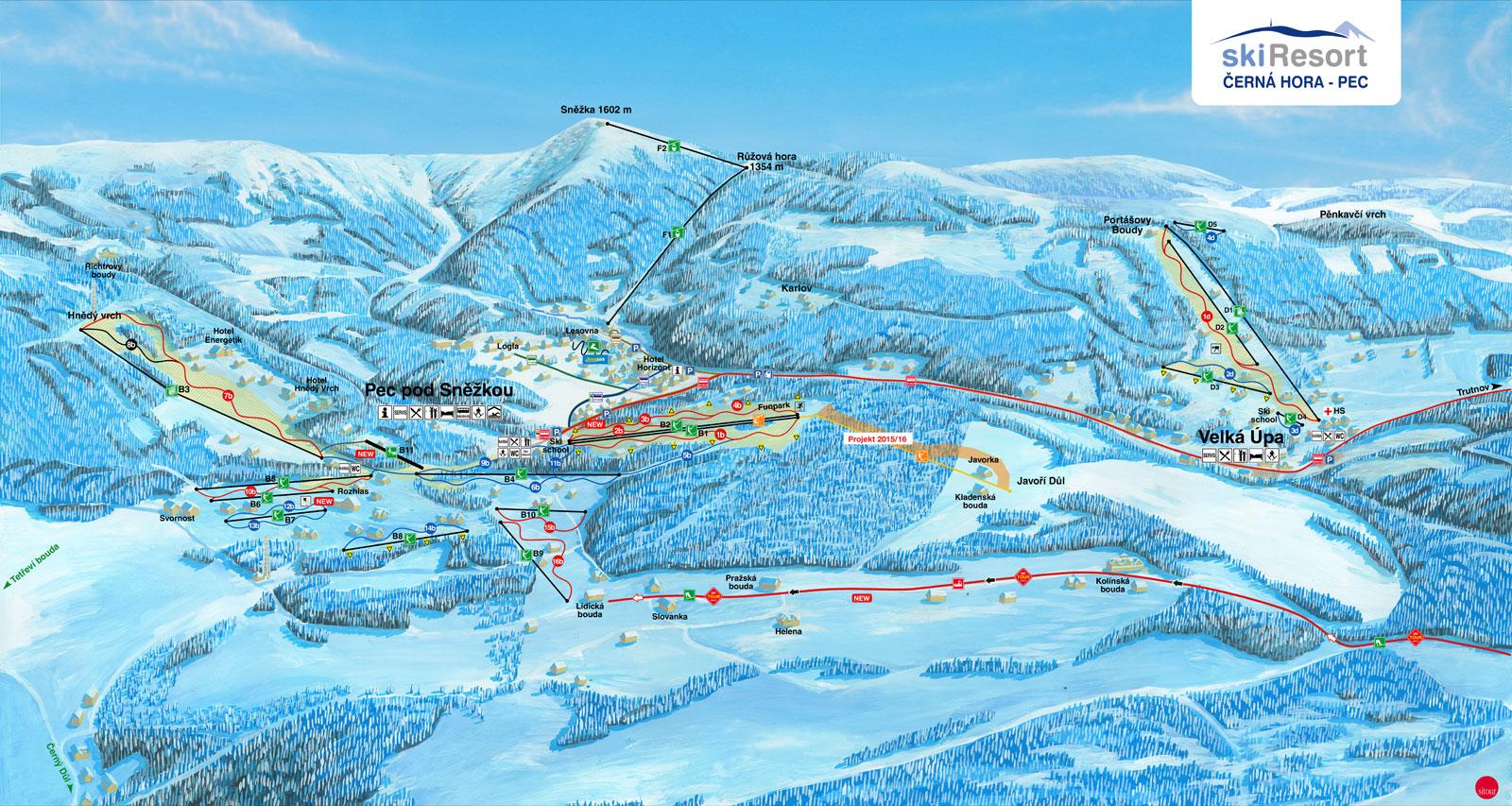 Pistekort Černá Hora (Pec pod Sněžkou)