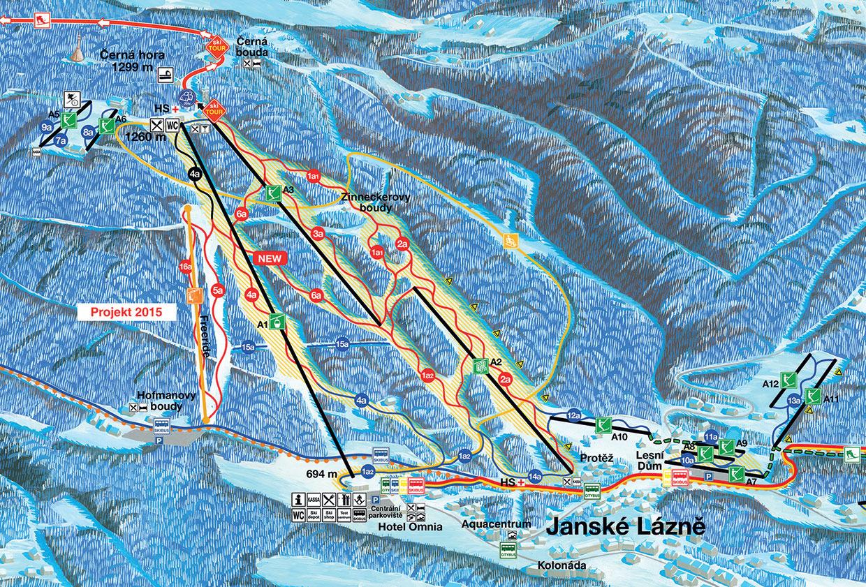Pistekort Černá Hora (Janské Lázně)