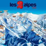 Pistekort Les 2 Alpes