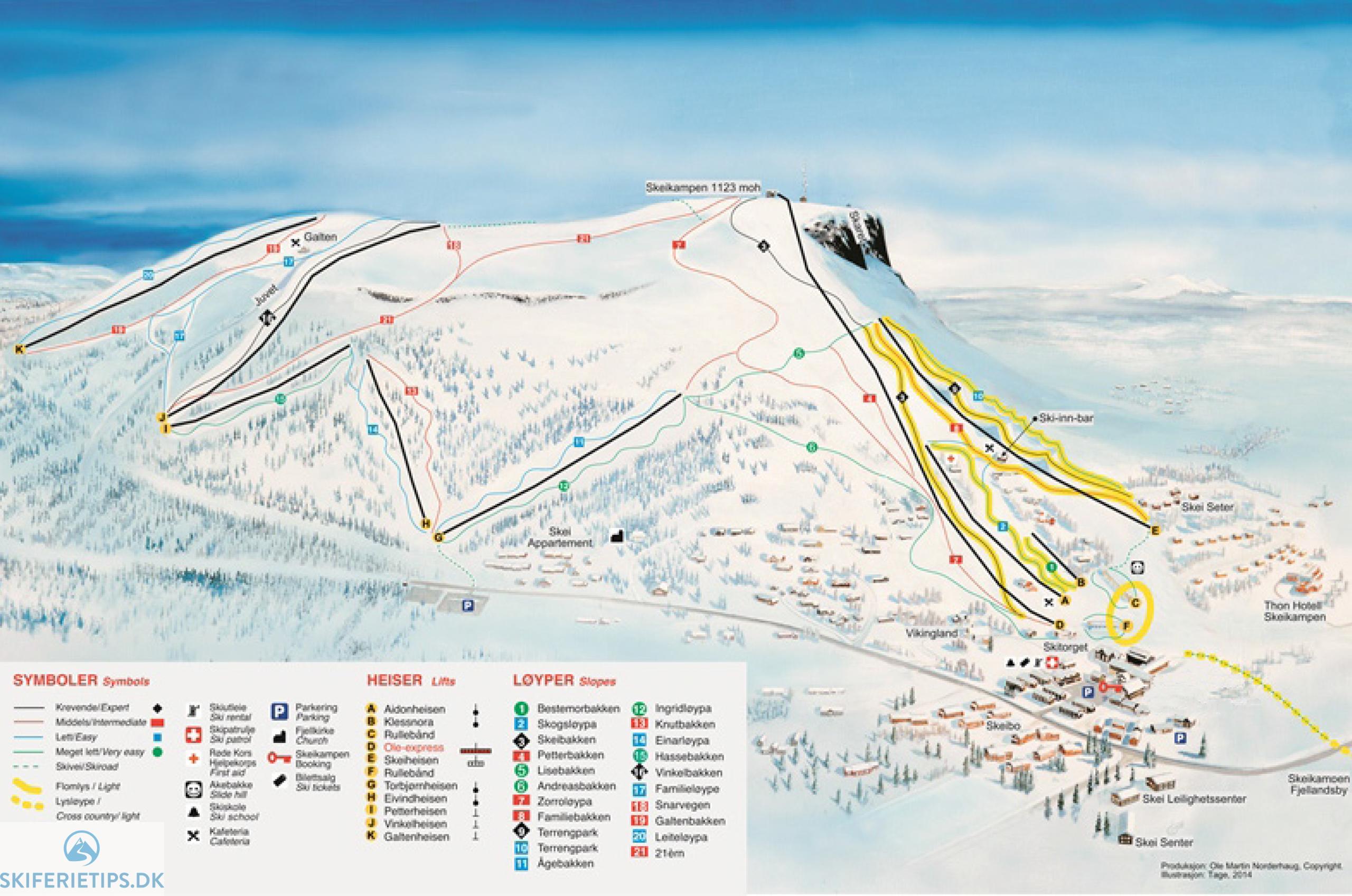 Skeikampen Pistekort Se Kort Over Pister Og Skilifter