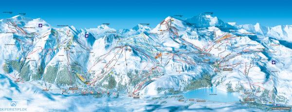 Pistekort Val d'Isère Tignes