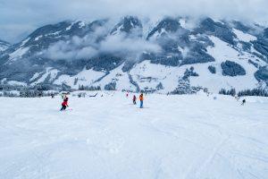 Mange af Saalbach-Hinterglemms pister er meget brede // Foto: Troels Kjems