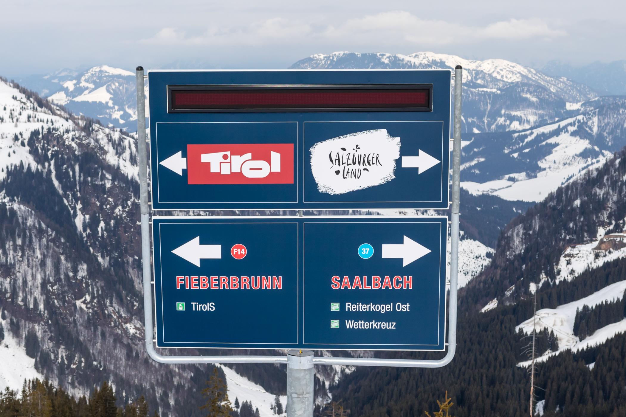 Skiområdet ligger på grænsen mellem Tyrol og Salzburgerland // Foto: Troels Kjems