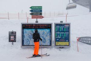 Skiområdet er godt skiltet // Foto: Troels Kjems