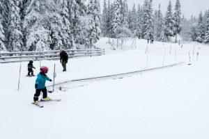 Tæppelift nær Experium-torget til Lindvallens allermindste skiløbere // Foto: Troels Kjems