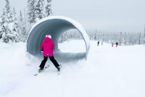 Skicross-banen langs Gustavbacken i Lindvallen // Foto: Troels Kjems