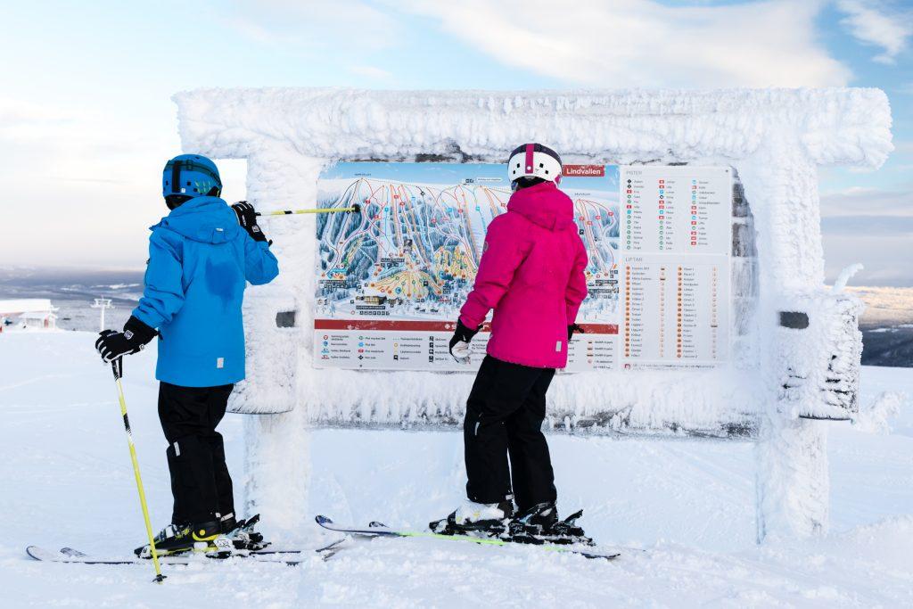 Lindvallens pistekort er nemt at overskue, også for børn // Foto: Troels Kjems