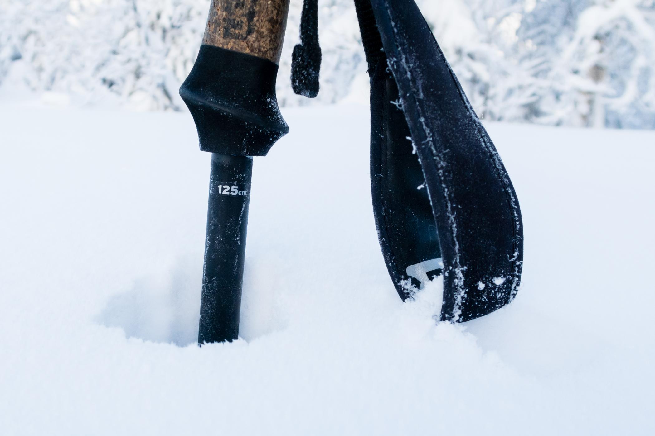 Der lå mindst en meter sne langs pisterne den 30. december 2017 // Foto: Troels Kjems