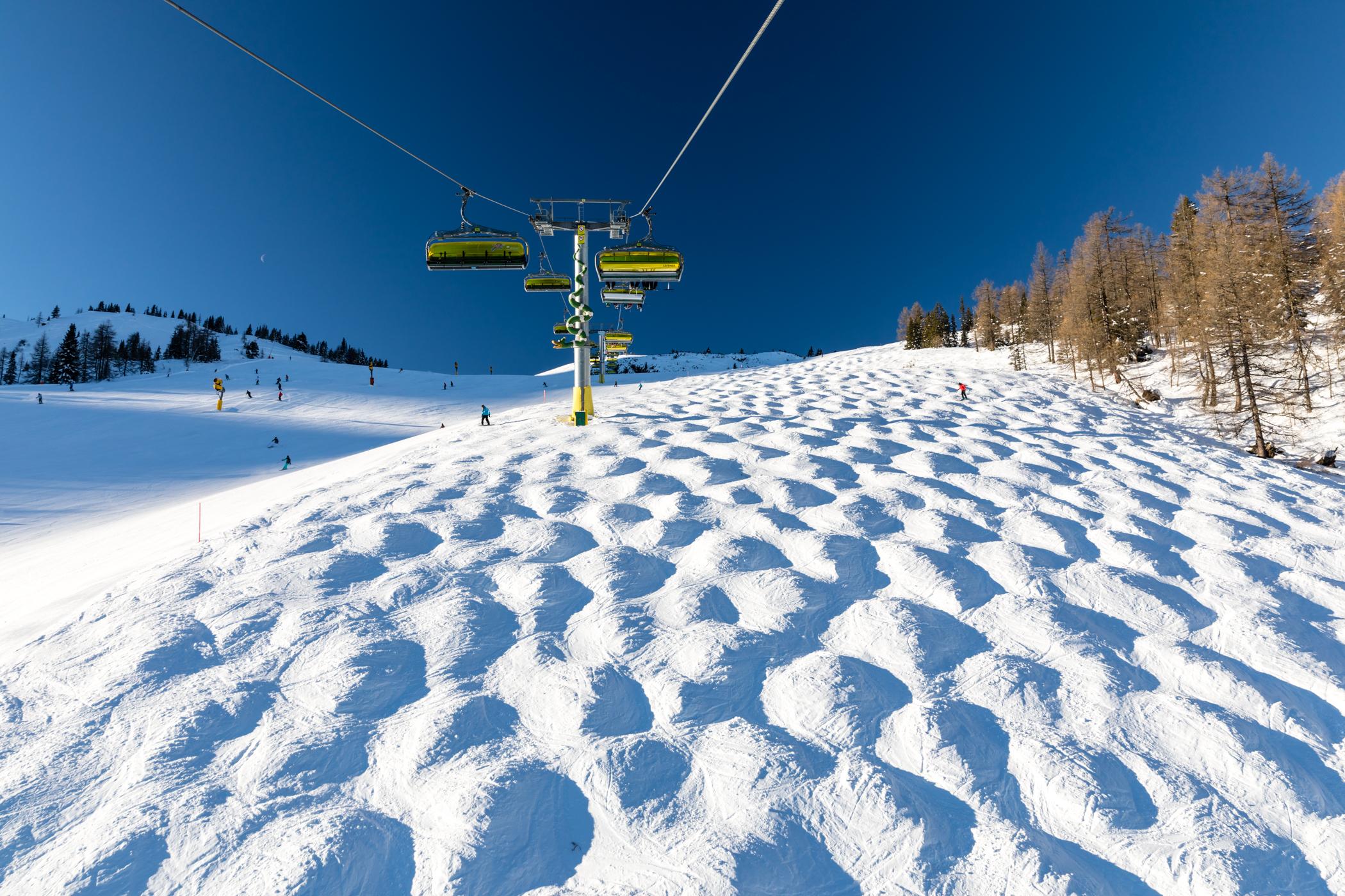 På ski i snesikre Schladming