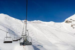 På vej op med stoleliften Seekareckbahn i Obertauern.