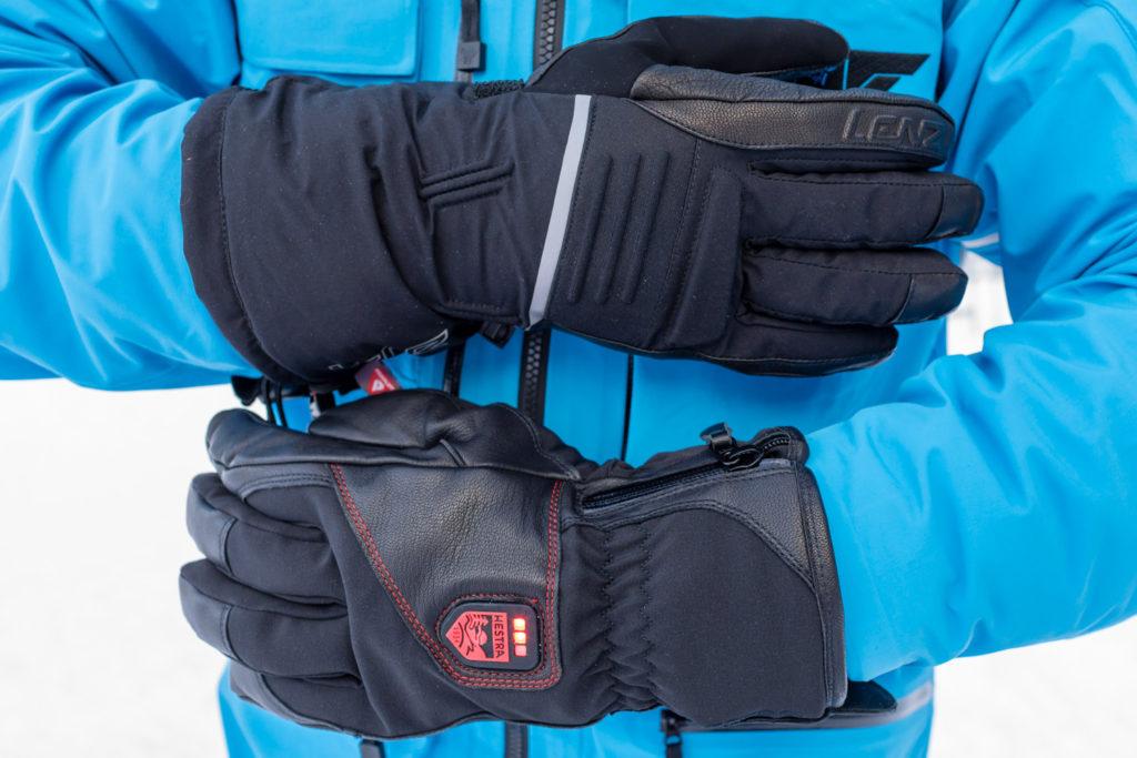 Skihandsker med varme