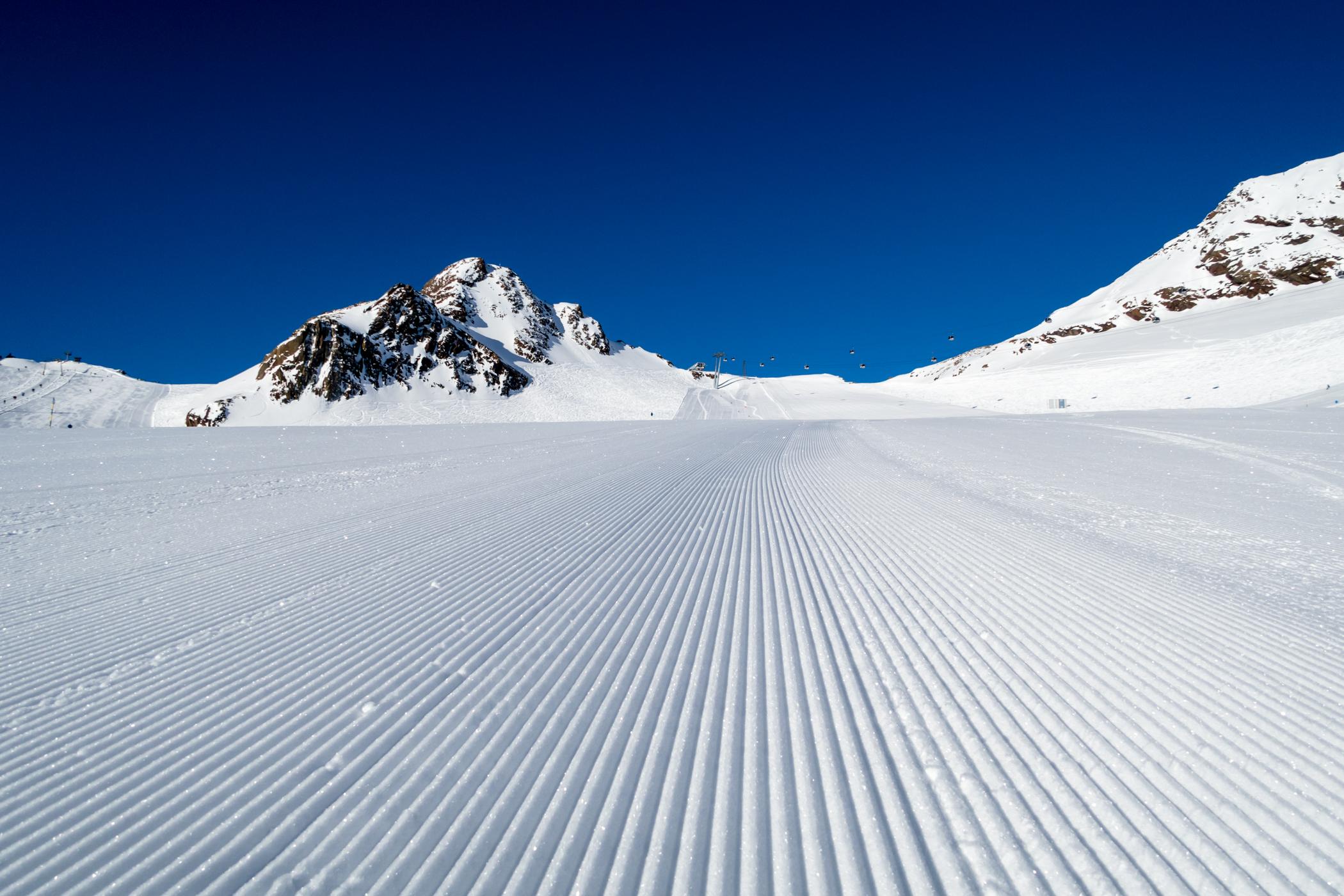 Absolut fantastiske sneforhold på pisten // Foto: Troels Kjems