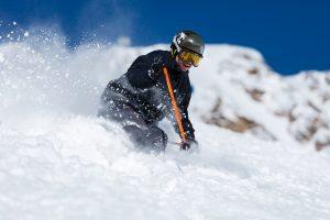 Offpiste skiløb i Sölden ved siden af piste D24.