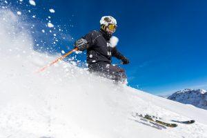 Offpiste skiløb i Sölden ved siden af Schwarzkogl piste 25.