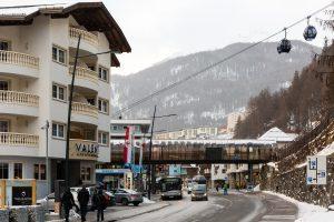 Gaislachkogl I A10 gondolliften i Sölden, Østrig.