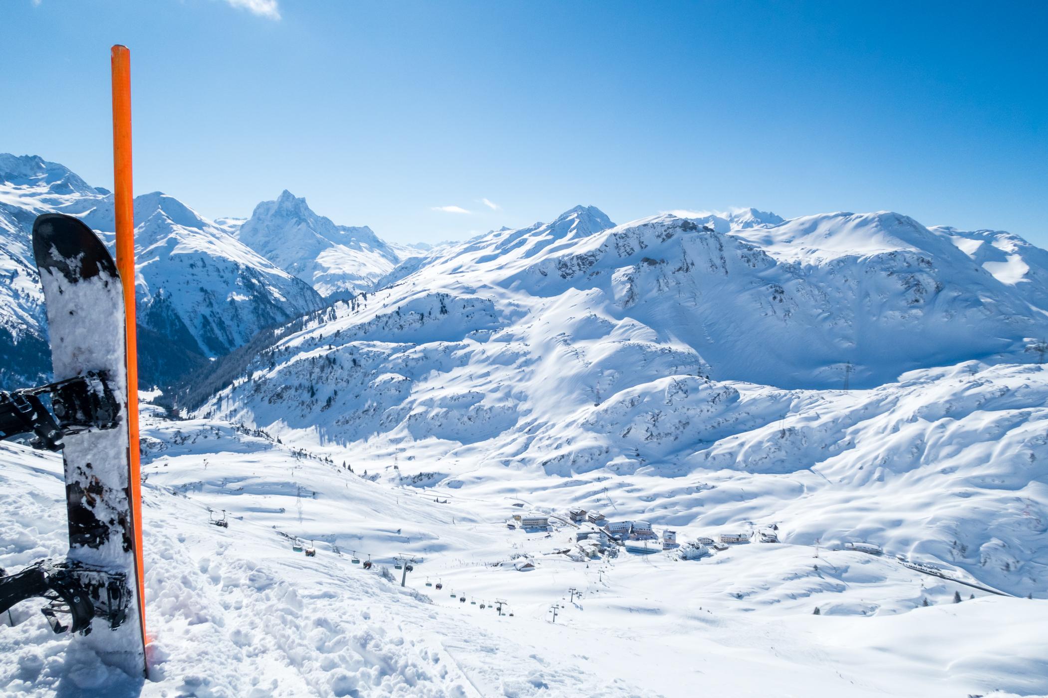 Solskin over St. Christoph am Arlberg // Foto: Troels Kjems