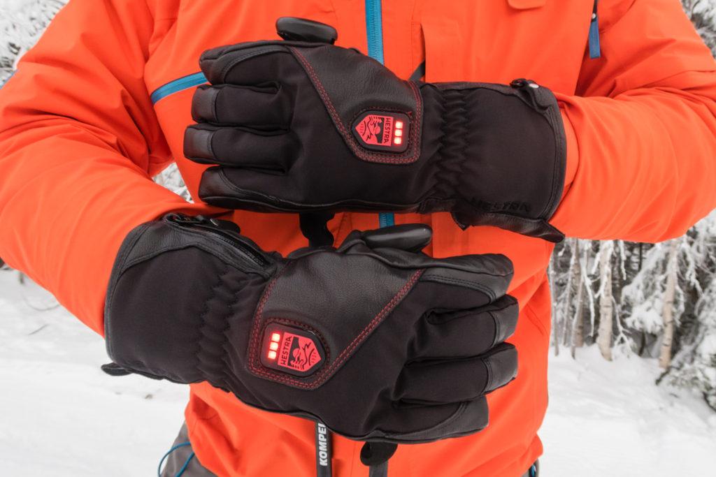 Test af Hestra skihandsker med varme