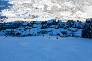 Alpendorf i skygge